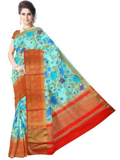 Fancy Multi Color Printed Cotton Saree - LKC3944191