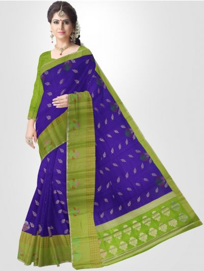 Dupion Blue Soft Silk Saree