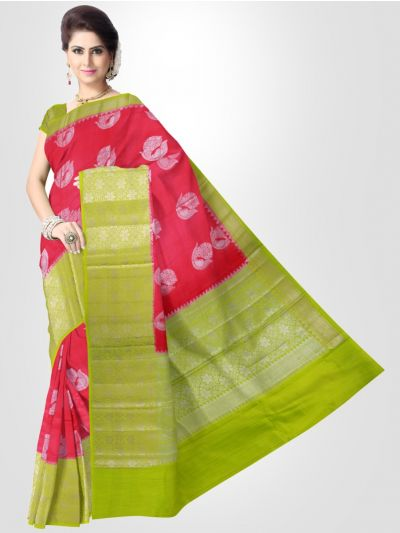 Dupion Pink Soft Silk Saree