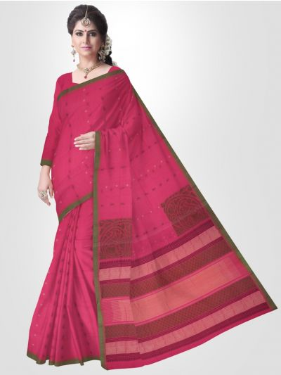 Kovai Magenta Cotton Saree