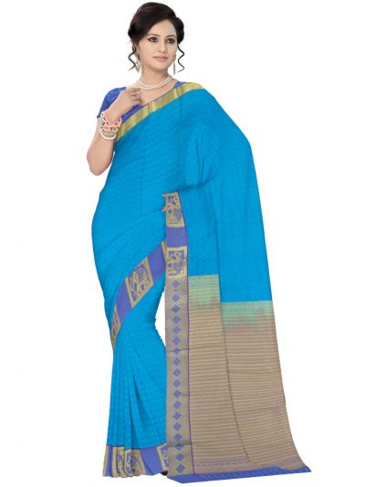 Art Blue Silk Saree