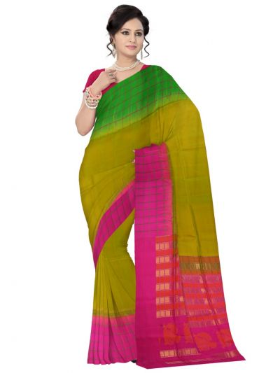 Vipanji Soft Silk Green Saree