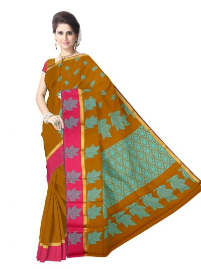 Chamelli Kora Silk Cotton Saree