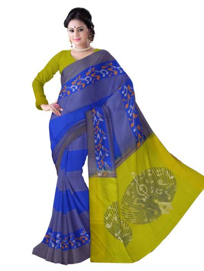 Kanmanie Soft Silk Blue Saree