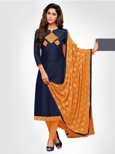 Long Slub South Cotton Dress Material