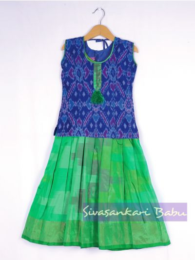 Sivasankari Babu Girls Silk Pavadai Set - MAA0540278