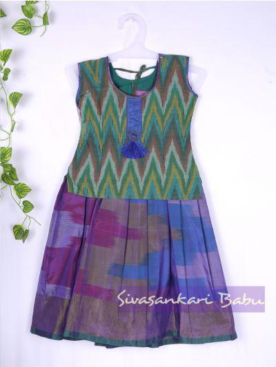 Sivasankari Babu Girls Silk Pavadai Set - MAA0540290