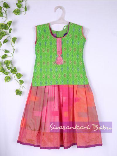 Sivasankari Babu Girls Silk Pavadai Set - MAA0540297