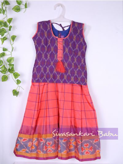 Sivasankari Babu Girls Silk Pavadai Set - MAA0540304