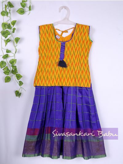 Sivasankari Babu Girls Silk Pavadai Set - MAA0540308 - 5 Years Size