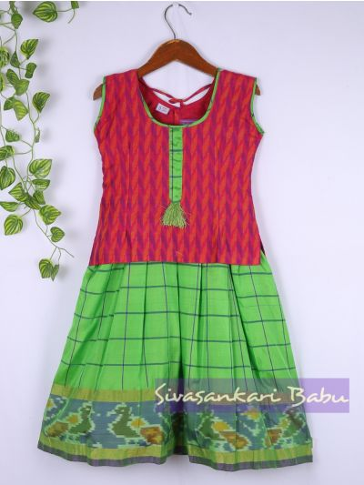 Sivasankari Babu Girls Silk Pavadai Set - MAA0540309 - 5 Years Size