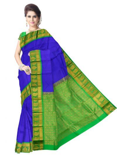 Bairavi Traditional Blue Silk Saree