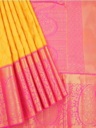 Vivaha Wedding Silk Yellow Saree