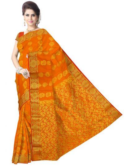 Art OrangeSilk Saree