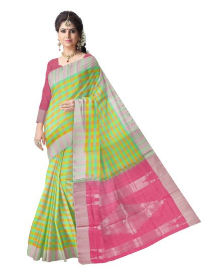 Vipanji Soft Silk Multicolor Saree
