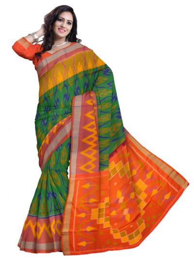 Vipanji Soft Silk Green Saree