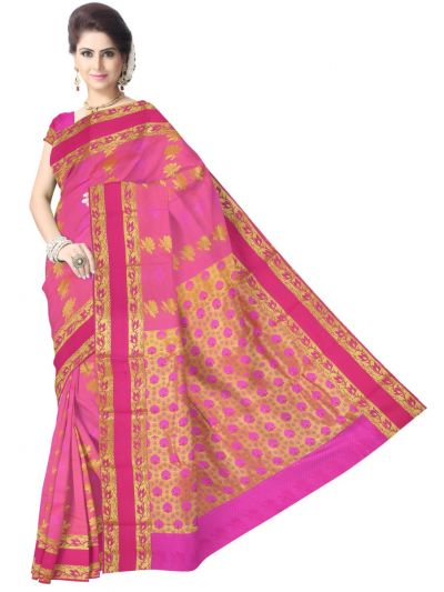 Art Pink Silk Saree