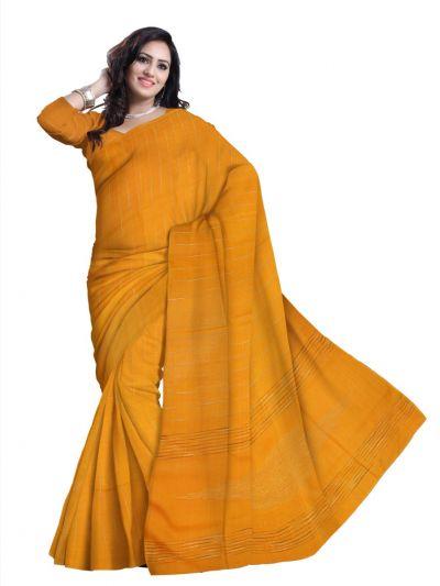 Plain Tussar Silk Saree