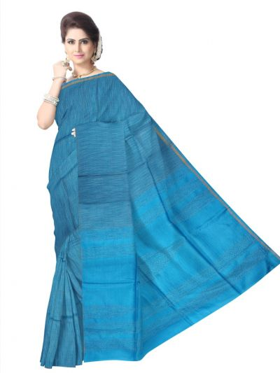 Plain Tussar Silk Saree