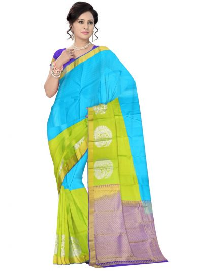 Multi Color Traditional Silk Saree - MAD3555920
