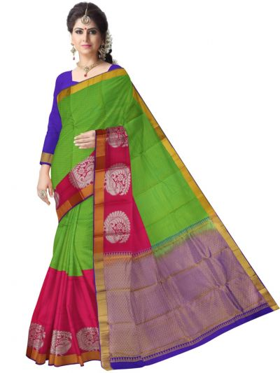 Multi Color Traditional Silk Saree - MAD3555921