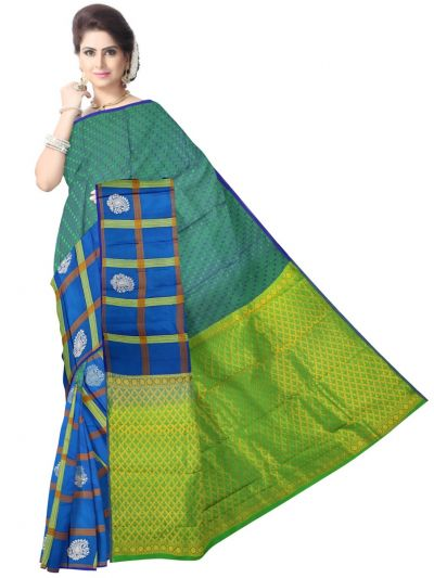 Multi Color Traditional Silk Saree - MAD3555930