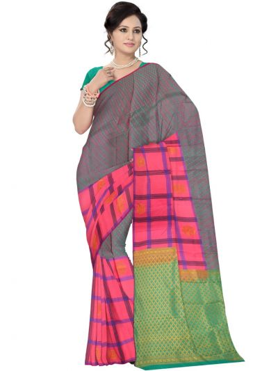 Multi Color Traditional Silk Saree - MAD3555931
