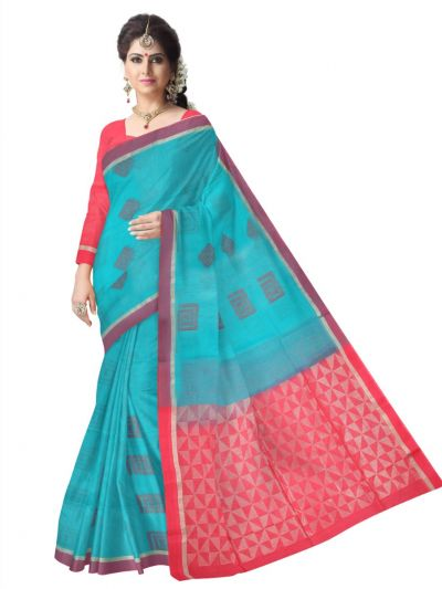 Chamelli Exclusive Kora Silk Cotton Saree - MAE4109680