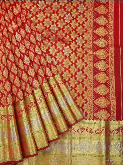 Vivaha Wedding Kanchipuram Silk Saree With Stone Work Design - MAE4159280