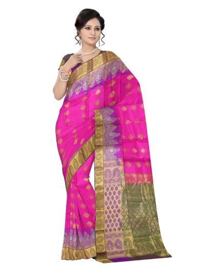 MAE4318278-Uppada Traditional Pink Silk Saree