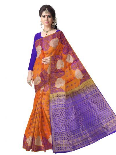 Uppada Traditional Orange Silk Saree