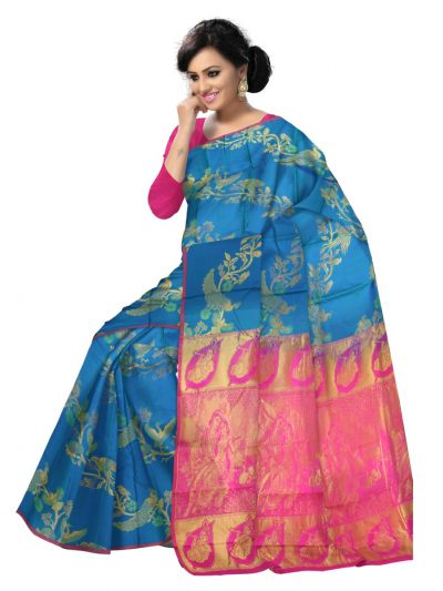 Uppada Traditional Blue Silk Saree