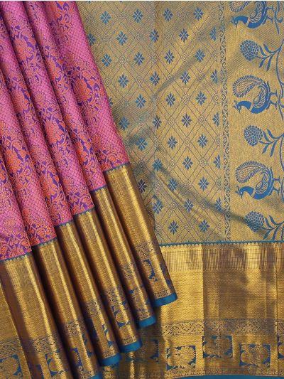 Vivaha Wedding Pink Silk Saree - MBA4726239