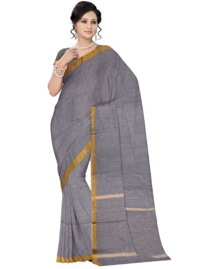 Chammeli Linen Cotton Grey Saree