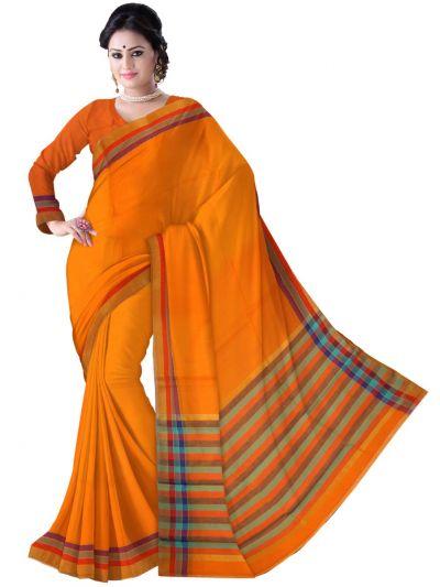 Chammeli Linen Cotton Orange Saree