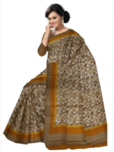 Kyathi Exclusive Printed Jute Silk Saree