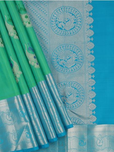 Vivaha Wedding Silk Green Saree