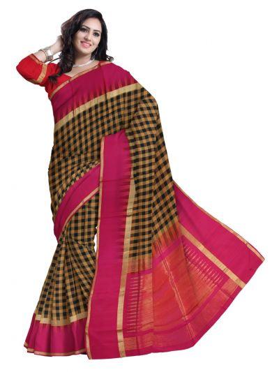 MCA7930867 - Checked Soft Silk Saree
