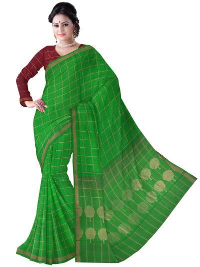 MCA8007380-Chamelli Exclusive Kora Silk Cotton Saree