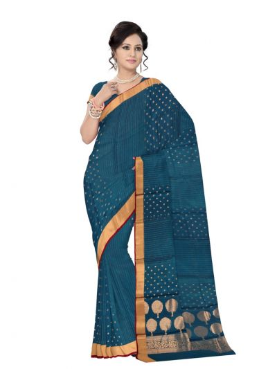 MCA8007382-Fancy Kora Silk Cotton Saree