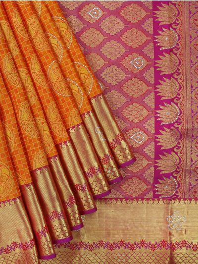 Vivaha Wedding Kanchipuram Silk Saree With Stone Work Design-MCA8427109