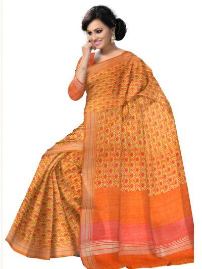 MCB8564947-Sahithyam Exclusive Printed Linen Cotton Saree