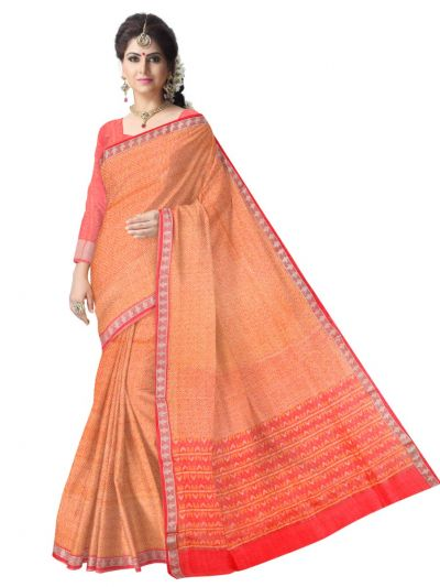 Sahithyam Exclusive Printed Linen Cotton Saree