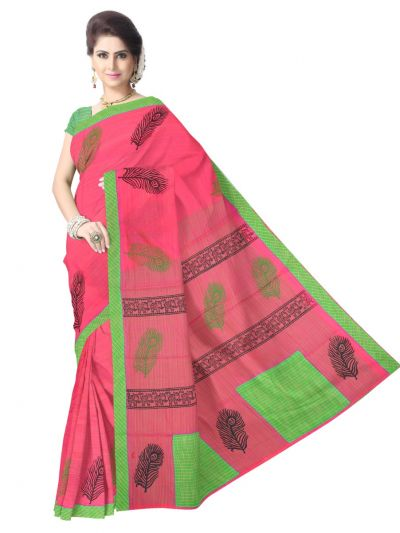 Chamelli Exclusive Printed Chanderi Cotton Saree