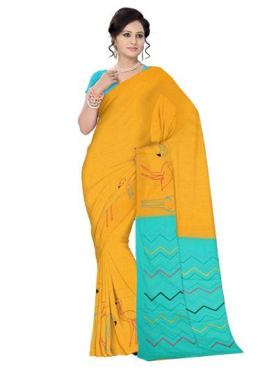 Chamelli Exclusive Embroidery Chanderi Cotton Saree