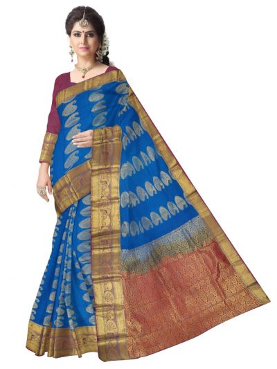 Bairavai Gift Art Silk Saree With Stone Work-MCD0100392