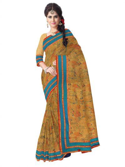 Kyathi Exclusive Linen Fancy Silk Saree