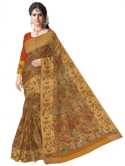 MCD0577821-Kyathi Exclusive Linen Fancy Silk Saree