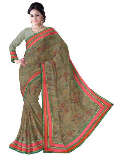 MCD0577823-Kyathi Exclusive Linen Fancy Silk Saree