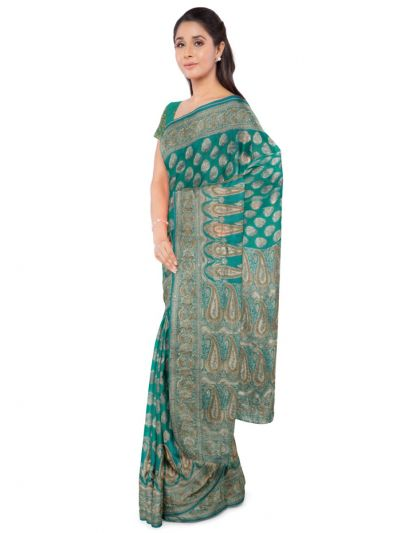 MDD2999361- Kayathi Handloom Stone work Pure Banarasi Silk Saree